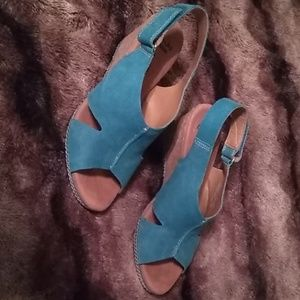 Clark's Suede Leather Wedges